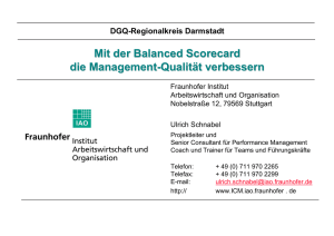 Mit der Balanced Scorecard die Management