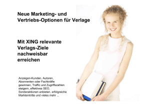 Verlags-Marketing mit XING - 1a-Social