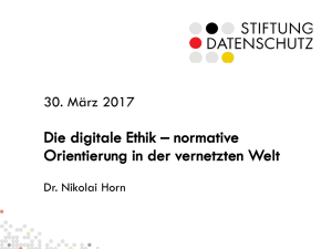 Die digitale Ethik – normative Orientierung in
