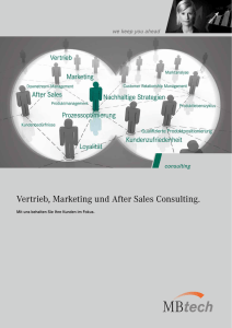 Vertrieb, Marketing und After Sales Consulting.
