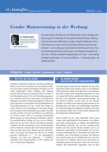 Gender Mainstreaming in der Werbung