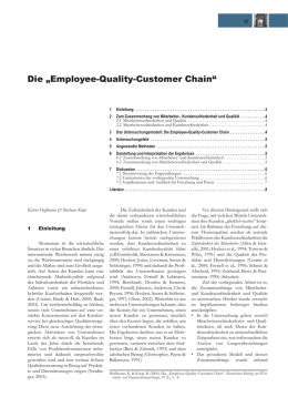 "Die ""Employee-Quality-Customer Chain"""