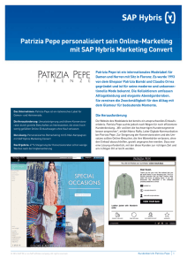 Patrizia Pepe personalisiert sein Online‑Marketing mit SAP Hybris