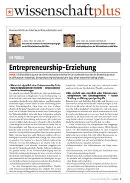 Thema: Entrepreneurship