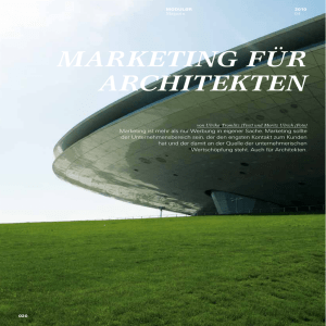 marketing für architekten