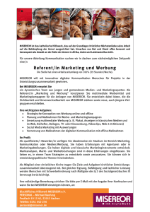 Referent/in Marketing und Werbung