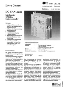 Intelligenter CAN Bus Motorcontroller