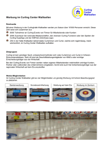 Werbung im Curling Center Wallisellen