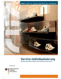 Service Individualisierung - Center for leading innovation and