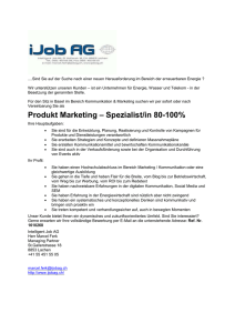 Produkt Marketing – Spezialist/in 80-100%