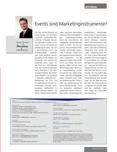 events sind marketinginstrumente!