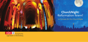 ChurchNight: Reformation feiern!