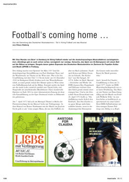 Football`s coming home - Deutsches Musicalarchiv