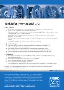Einkäufer International (m/w)