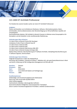 121-1404 ICT-Architekt Professional