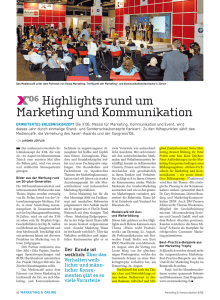 Highlights rund um Marketing und Kommunikation