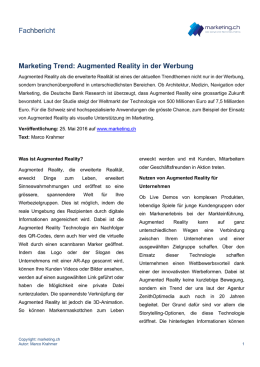 Augmented Reality in der Werbung