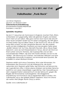 "Volkstheater: ""Punk Rock"""