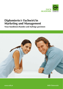 Diplomierte/r Fachwirt/in Marketing und Management