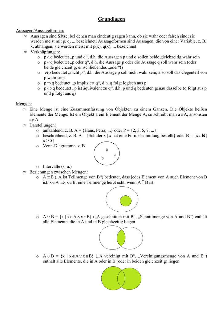 Zusammenfassung Feuerbachers Matheseite