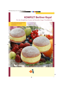 KOMPLET Berliner Royal