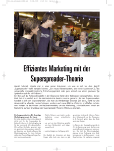 Effizientes Marketing mit der Superspreader-Theorie - Schumann-ACC