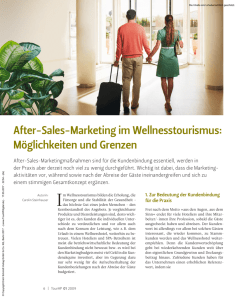 After-Sales-Marketing im Wellnesstourismus