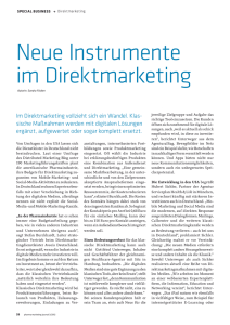 Pharma Marketing Journal: Neue Instrumente im