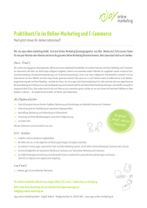 Praktikant/in im Online-Marketing und E-Commerce