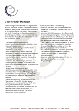 Coaching für Manager