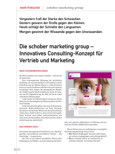 Die schober marketing group – Innovatives Consulting