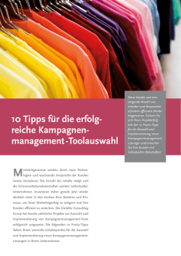 management -Toolauswahl - kampagnenmanagement