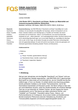 FORUM: QUALITATIVE SOZIALFORSCHUNG SOCIAL RESEARCH