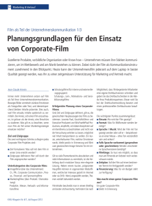 KMU-Magazin, Part 1/3, «Corporate Film