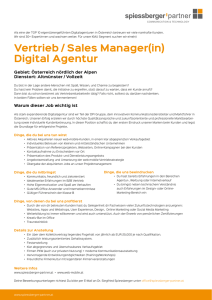 Vertrieb / Sales Manager(in) Digital Agentur - spiessberger
