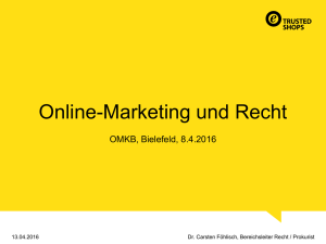 Online-Marketing und Recht - Online Marketing Konferenz Bielefeld
