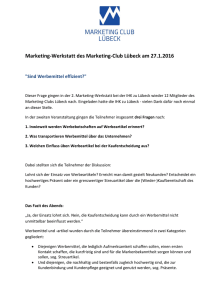 Marketing-Werkstatt des Marketing
