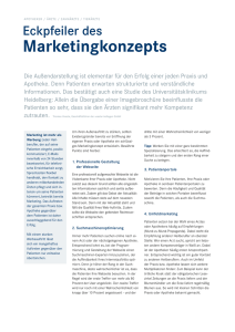 Eckpfeiler des Marketingkonzepts