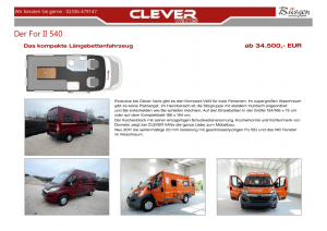 Der For II 540 - Clever Reisemobile