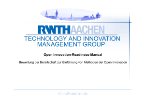 Open Innovation Readiness - Stiftung Industrieforschung