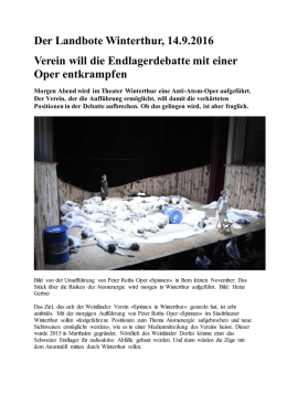 Der Landbote Winterthur – September 2016