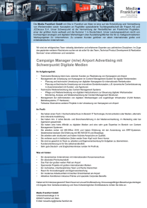Campaign Manager (m/w) Airport Advertising mit