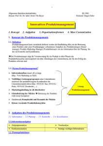 Innovatives Produktmanagement