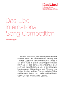 Das Lied – International Song Competition