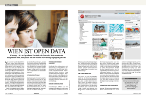 Wien ist Open Data - Open Government Wien
