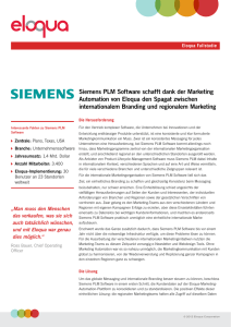 Siemens PLM Software schafft dank der Marketing