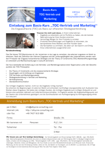 Basis-Kurs Vertrieb und Marketing