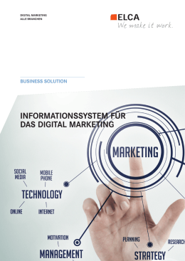 Digital Marketing - ELCA Informatique SA