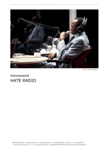 hate radio - International Institute of Political Murder