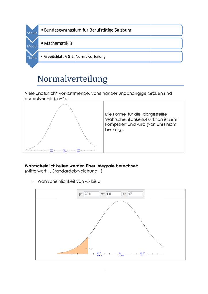 A 8-2 Normalverteilung